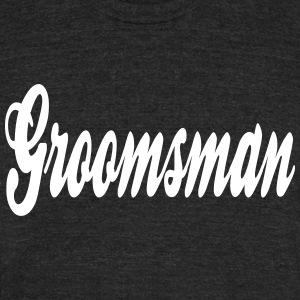 Cool Groomsman Design T-Shirts - Unisex Tri-Blend T-Shirt by American Apparel