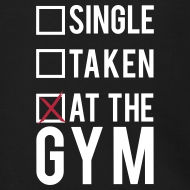 Design ~ Single, taken, at the gym | Mens hoodie