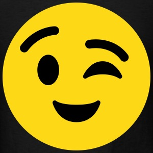Winky Face emoticon T-Shirt - Men's T-Shirt