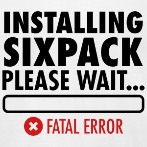 Installing Sixpack (Fatal Error) T-Shirts - Men's T-Shirt by American Apparel