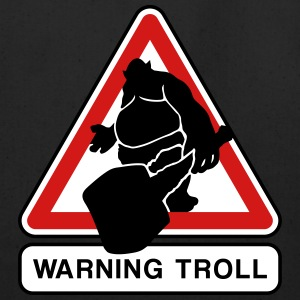 warning troll Bags & backpacks - Eco-Friendly Cotton Tote