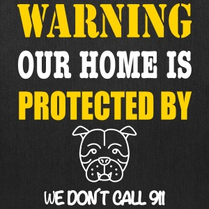 Warning Protected Bulldog Bags & backpacks - Tote Bag