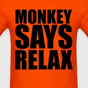 Monkey Says Relax (1) - Men's T-Shirt