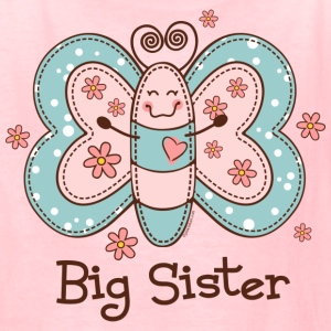 Butterfly Big Sis Kids' Shirts - Kids' T-Shirt