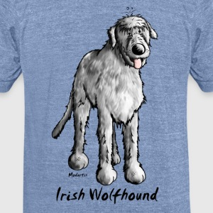 Cute Irish Wolfhound T-Shirts - Unisex Tri-Blend T-Shirt by American Apparel