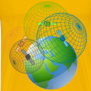 GPS satellites trilateration - Men's Premium T-Shirt