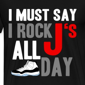 rock_js all day cords T-Shirts - Men's Premium T-Shirt
