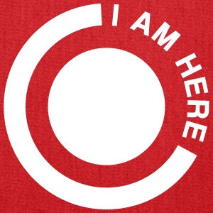 i am here circle Bags & backpacks - Tote Bag