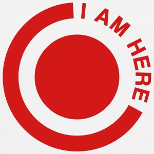 i am here circle T-Shirts - Men's Premium T-Shirt