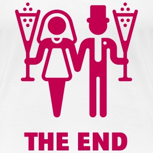 The End (Wedding / Marriage / Champagne) Women's T-Shirts - Women's Premium T-Shirt