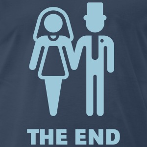 The End (Wedding / Marriage / Bridal Pair) T-Shirts - Men's Premium T-Shirt