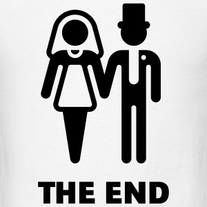 The End (Wedding / Marriage / Bridal Pair) T-Shirts - Men's T-Shirt