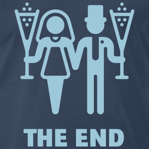 The End (Wedding / Marriage / Champagne) T-Shirts - Men's Premium T-Shirt