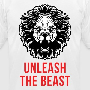 Lion - Unleash The Beast T-Shirts - Men's T-Shirt by American Apparel