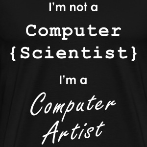 computer art not science - Men's Premium T-Shirt