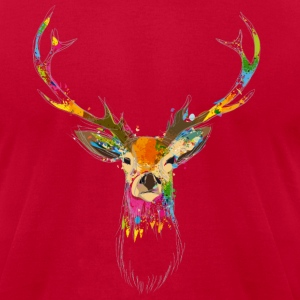 Watercolor deer T-Shirts - Men's T-Shirt by American Apparel