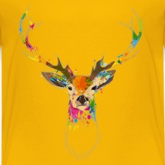 Watercolor deer Baby & Toddler Shirts
