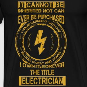 Electrician T-shirt - The title electrician - Men's Premium T-Shirt
