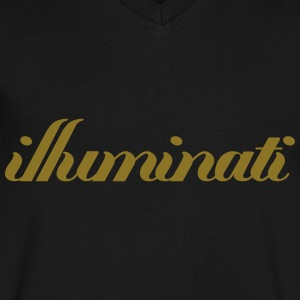 illuminati T-Shirts - Men's V-Neck T-Shirt by Canvas