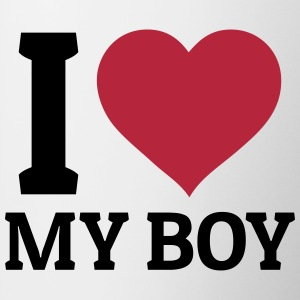 I love my Boy Mugs & Drinkware - Contrast Coffee Mug