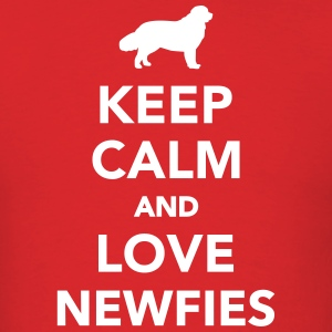 Keep calm and love Newfies T-Shirts - Men's T-Shirt
