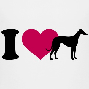 I love Greyhound Kids' Shirts - Kids' Premium T-Shirt