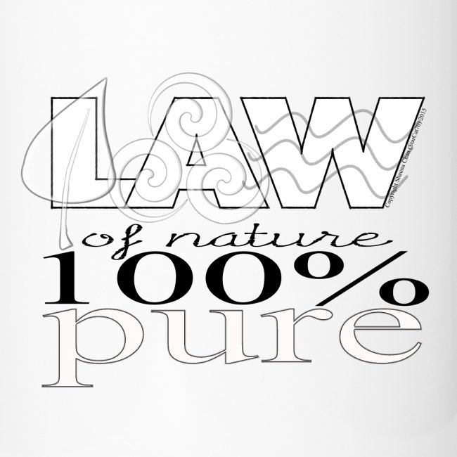LAW of Nature 100% Pure Travel Mug