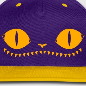 Creepy Cat (Purple+Orange) - Snap-back Baseball Cap