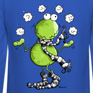 Funny Winter Frog  Long Sleeve Shirts - Crewneck Sweatshirt