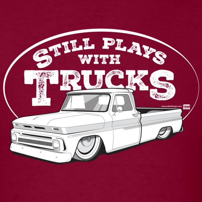 64-66 Slammed C10 Fleetside Tee (White graphic)