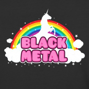 BLACK METAL! (Funny Unicorn / Rainbow Mosh Parody T-Shirts - Baseball T-Shirt