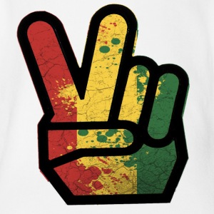 peace rasta - Short Sleeve Baby Bodysuit