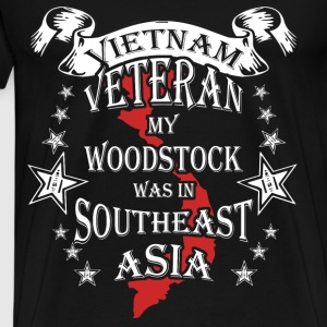 Vietnam veteran T-shirt - My Woodstock was in Asia - Men's Premium T-Shirt