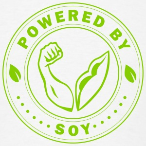 Powered by Soy - Men's T-Shirt