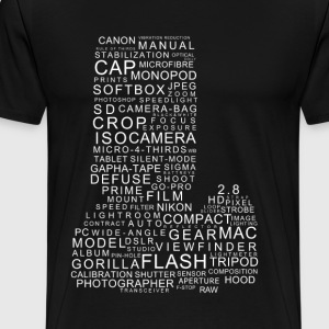 Camera words - Men's Premium T-Shirt