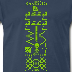 Arecibo Binary Message Answer Reply T-Shirts - Men's Premium T-Shirt