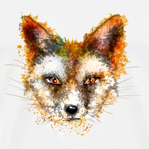A fox's head in watercolor style T-Shirts - Men's Premium T-Shirt