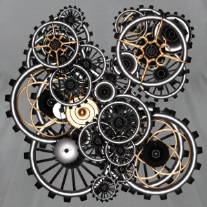 Gears on your gear no.2 Steampunk T-Shirts - Men's T-Shirt by American Apparel