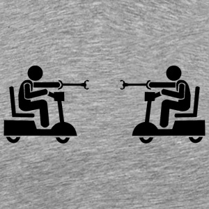 Power Wheelchair Joust - Men's Premium T-Shirt