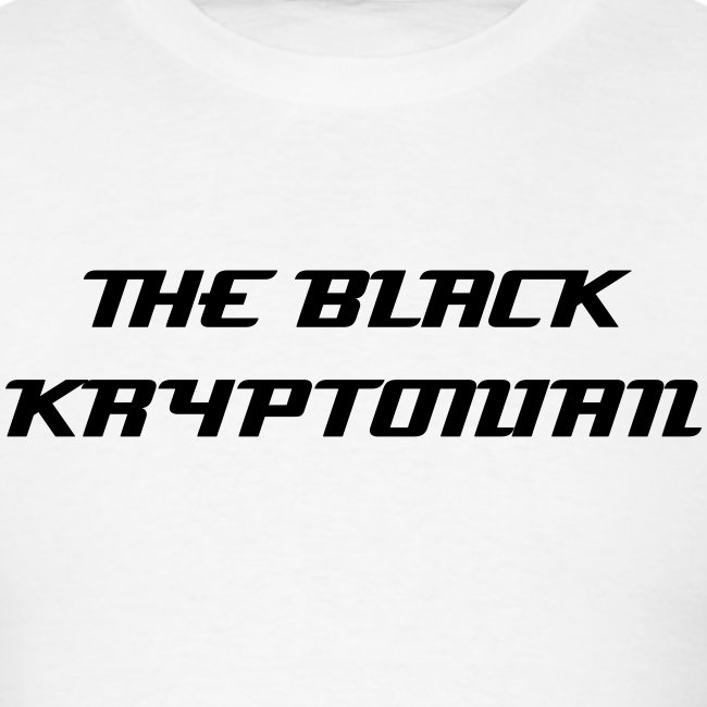 THE BLACK KRYPTONIAN T-SHIRT!!!