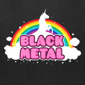 BLACK METAL! (Funny Unicorn / Rainbow Mosh Parody Bags & backpacks - Tote Bag