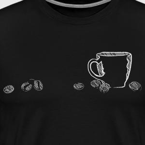coffee chalk - Men's Premium T-Shirt