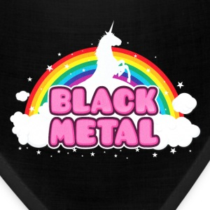 BLACK METAL! (Funny Unicorn / Rainbow Mosh Parody Caps - Bandana