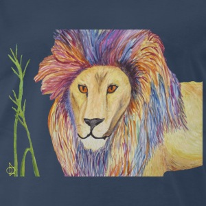 Wild Lion ready to party - Men's Premium T-Shirt