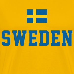 Sweden Flag T-Shirts - Men's Premium T-Shirt