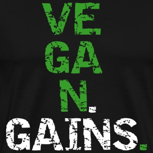 Vegan Gains T-Shirts - Men's Premium T-Shirt
