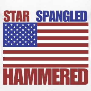4th of July star spangled hammered  - Women's Premium Tank Top