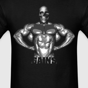 Gains … Skeleton - Men's T-Shirt