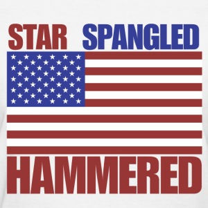 4th of July star spangled hammered  - Women's T-Shirt