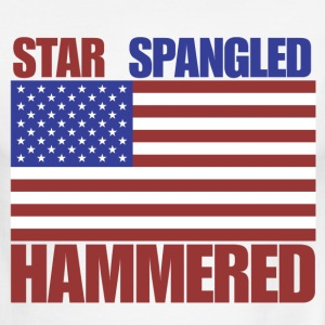 4th of July star spangled hammered  - Men's Ringer T-Shirt